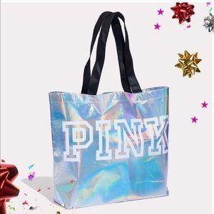 Pink shopping/gift bag NWT iridescent
